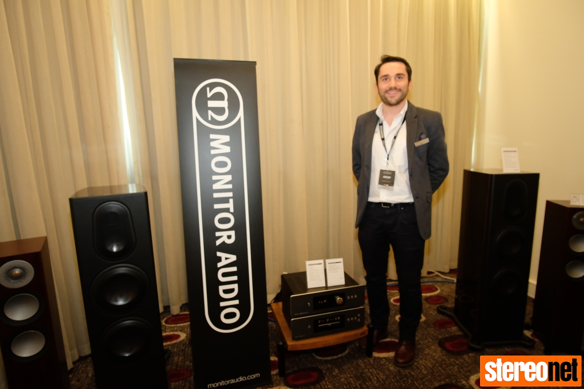 Jeremy Brown, Monitor Audio, at Melbourne International HiFi Show