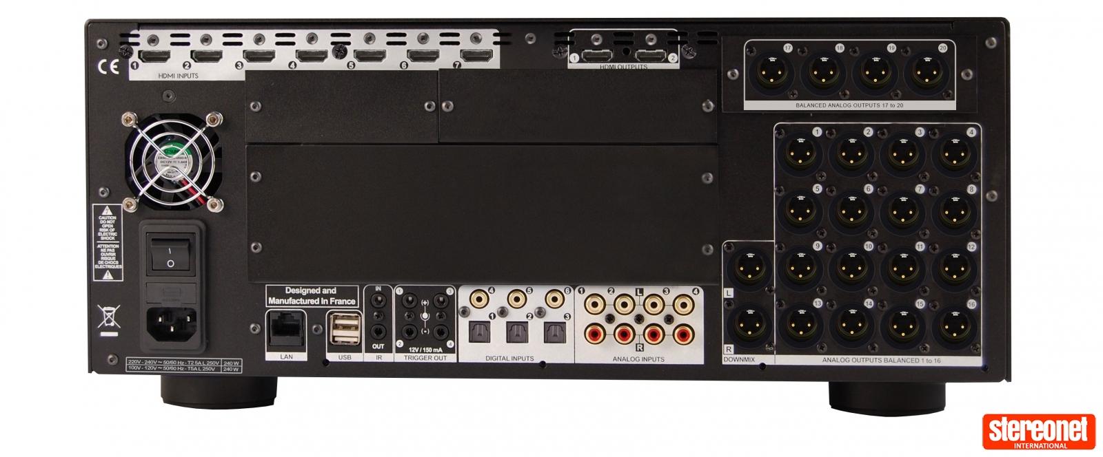 StormAudio ISP 3D.20 ELITE Processor Rear
