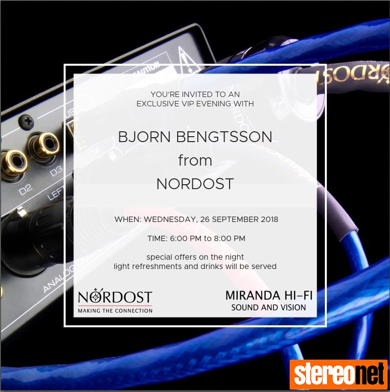 Nordost at Miranda Hi-Fi