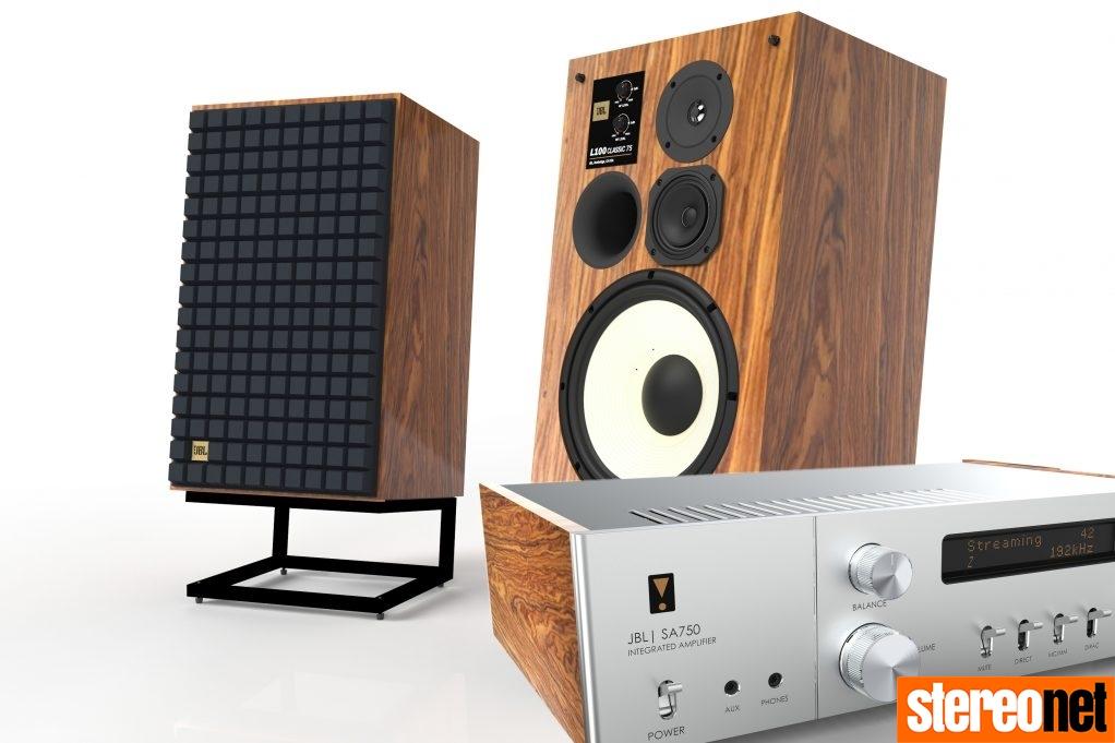 JBL L100 Classic 75 and SA750 amp