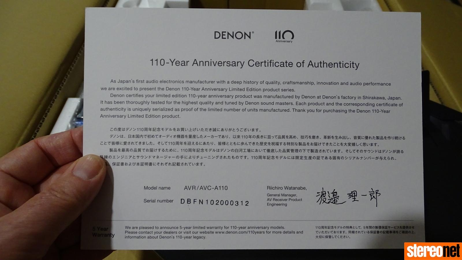 Denon AVC-A110 Review