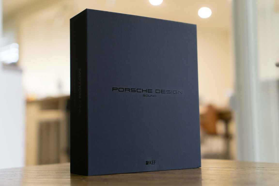 KEF Porsche Design Motion One Packaging
