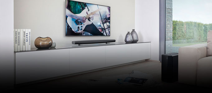 NEW DENON HEOS HS2 SOUNDBAR SUPPORTS AMAZON ALEXA AND HI-RES AUDIO