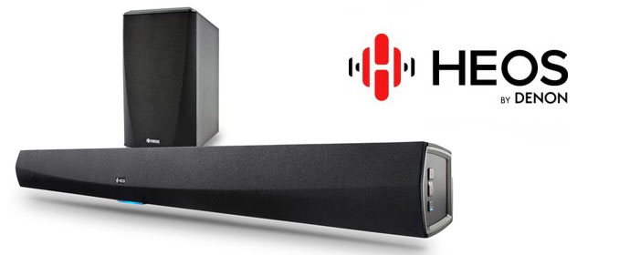 HEOS Soundbar and Subwoofer