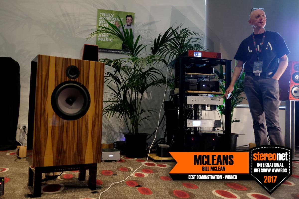 Best Presenter - Mcleans (Bill Mclean)