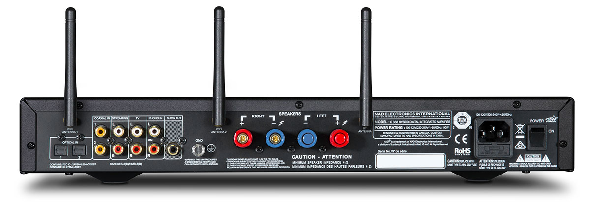 NAD Electronics C338 Rear