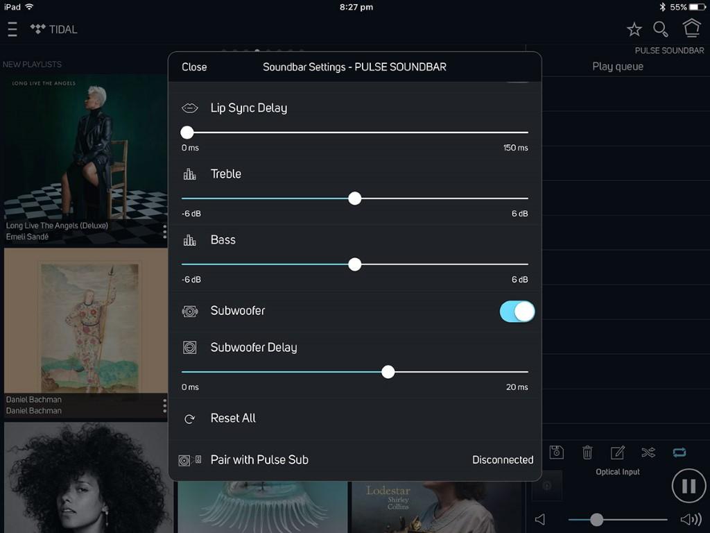 BluOS control app