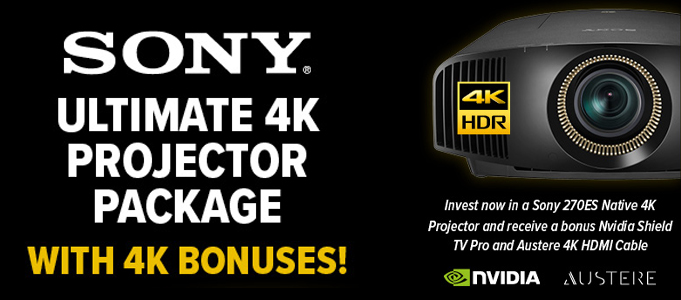 Unbeatable Native 4K Projector Promotion from Sony