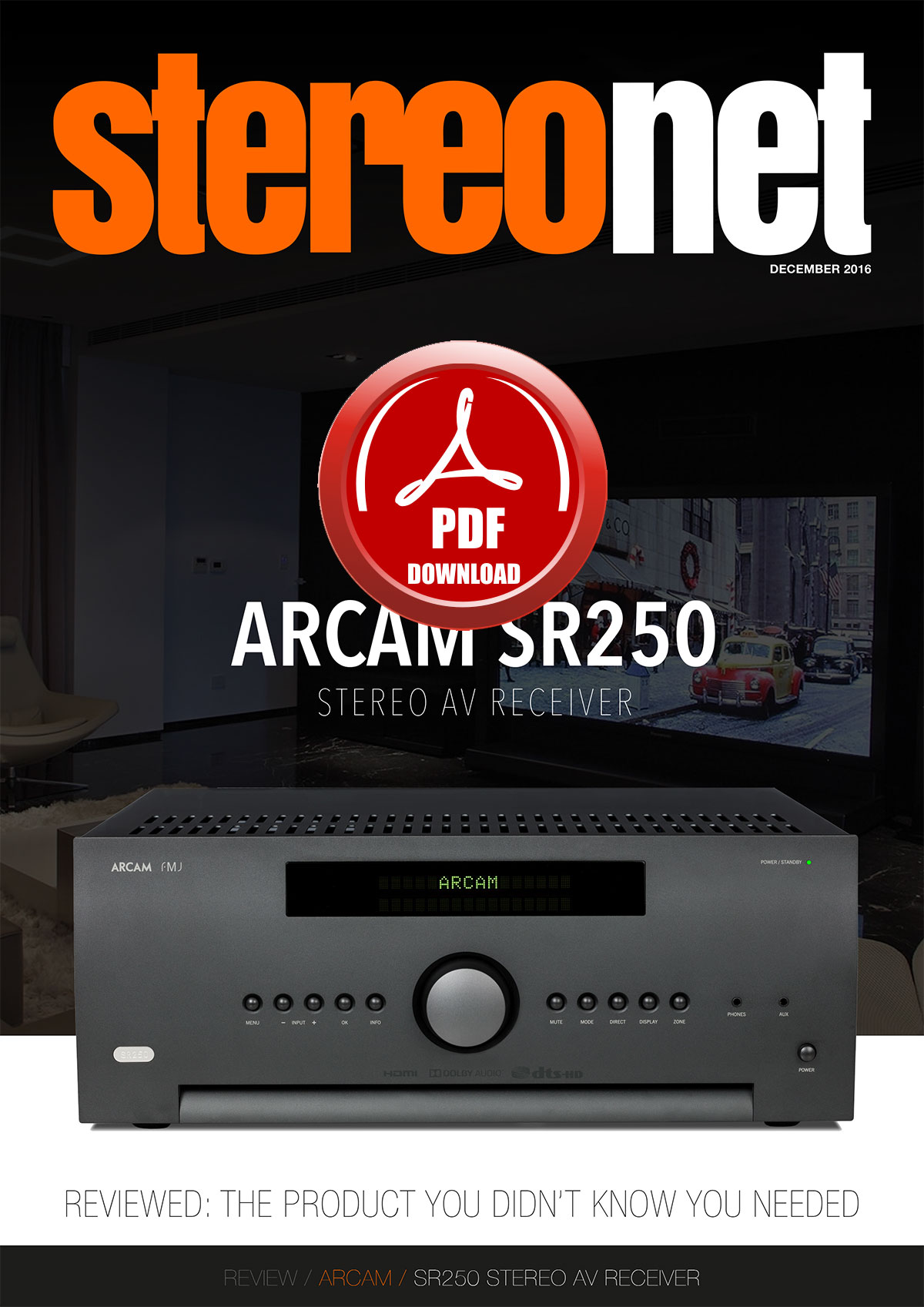 ARCAM SR250 Stereo AV Receiver Review
