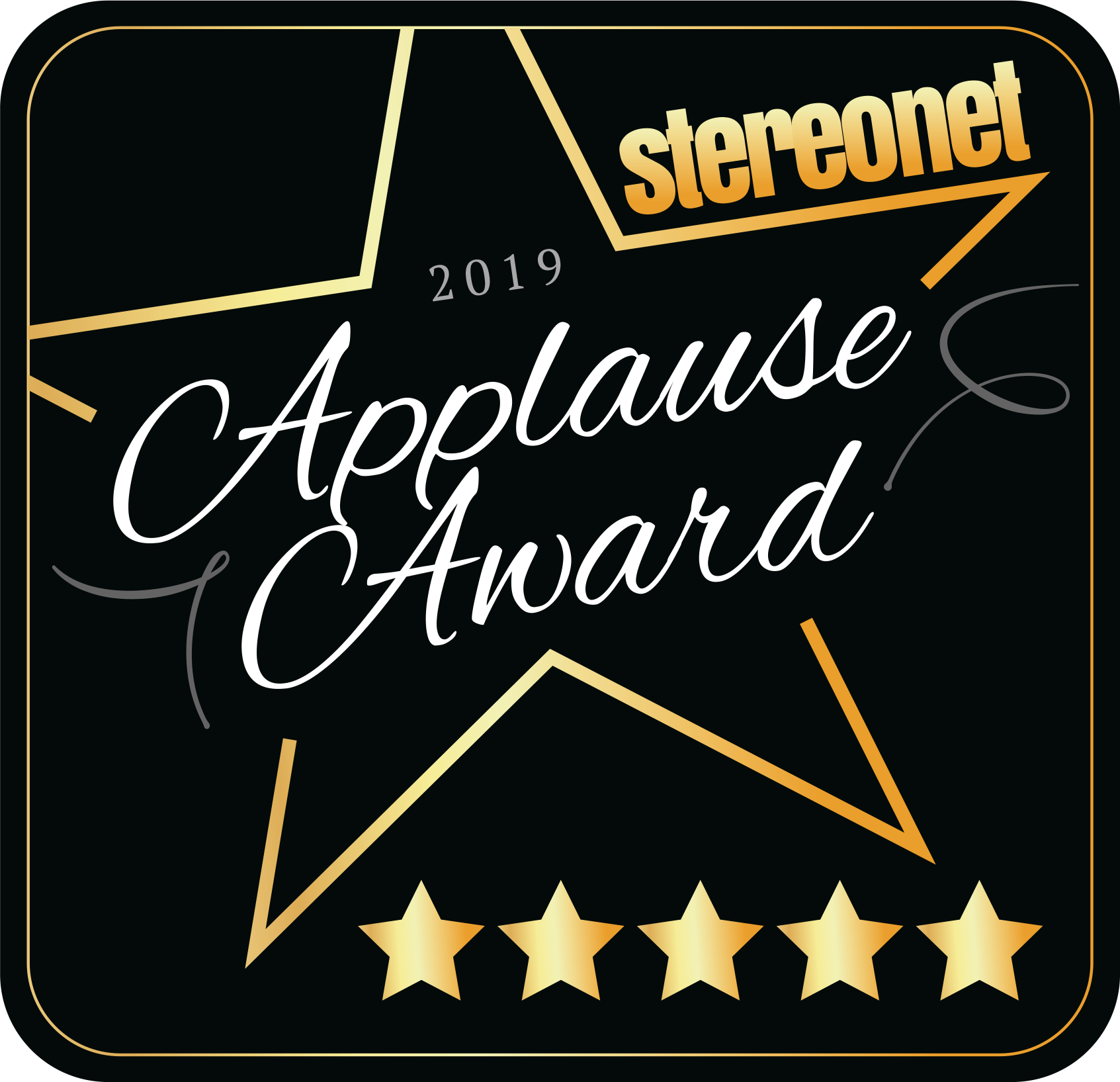 2019 StereoNET Applause Award