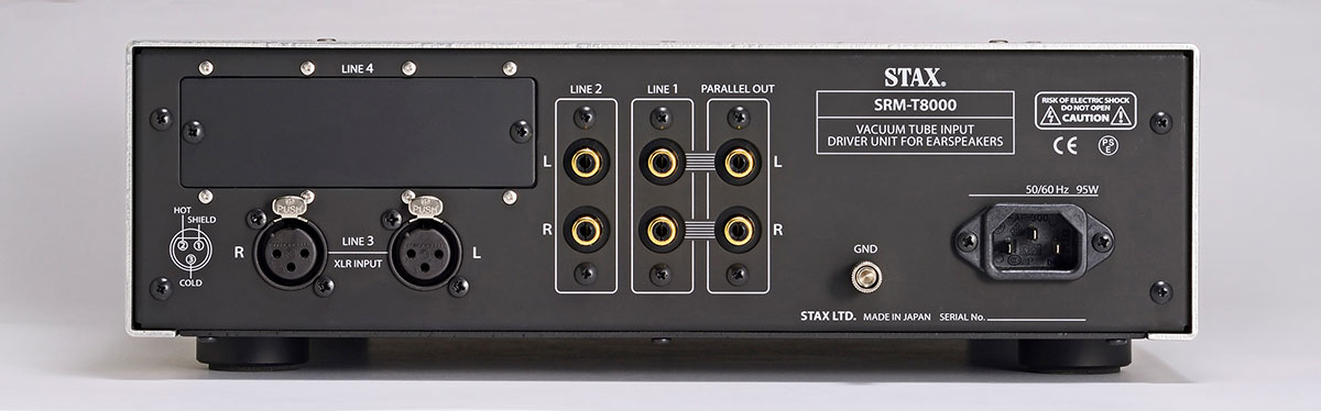 Stax SRM-T8000 Headphone Amplifier Rear