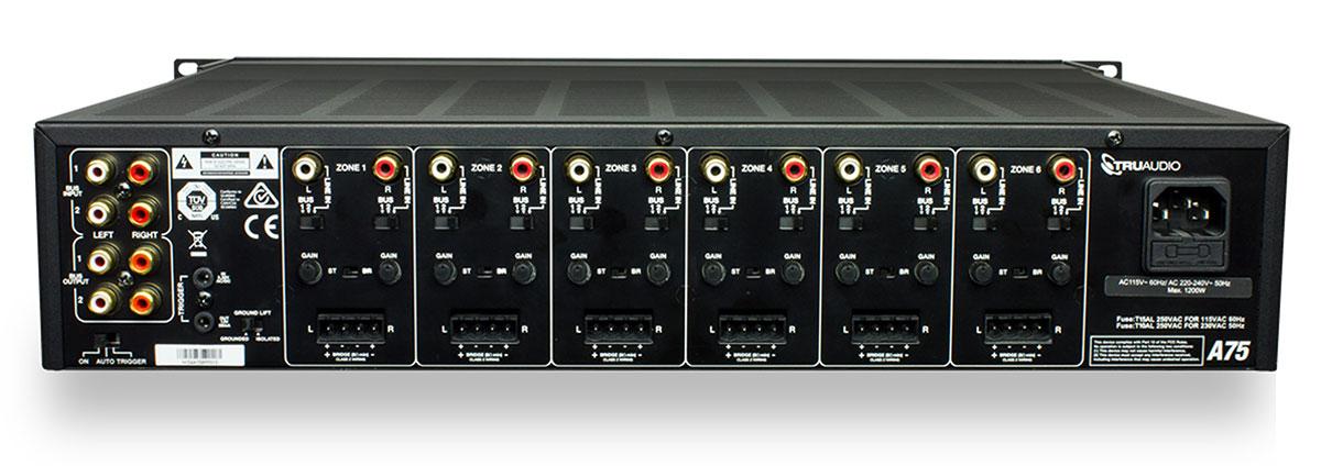 TruAudio A75 Amplifier Rear