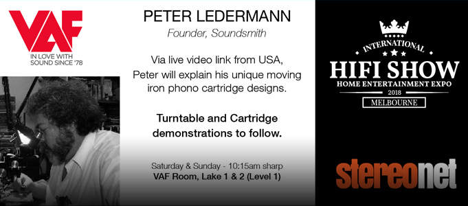 PETER LEDERMANN, SOUNDSMITH AT THE HI-FI SHOW