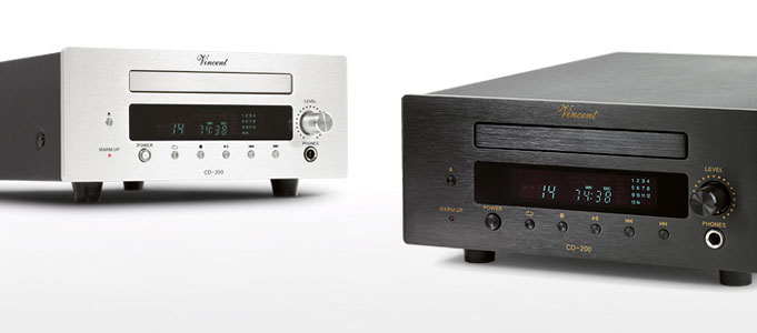 VINCENT RELEASES SENSIBLY PRICED CD-200 HYBRID CD PLAYER