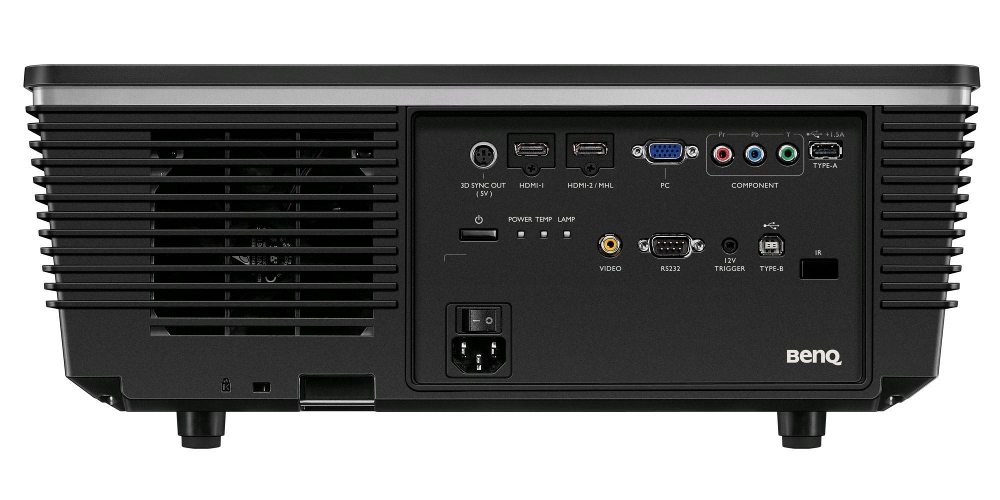 BenQ W8000 Projector Rear