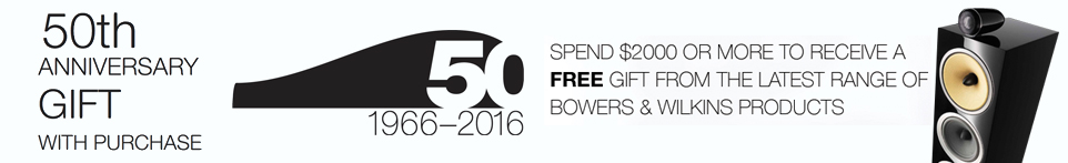 50th Anniversary Bowers & Wilkins Promotion