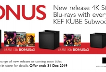 KEF's Kube Subwoofer and Free 4K SteelBook Blu-Ray Promotion