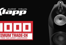 $1000 MINIMUM TRADE IN ON B&W 800 SERIES SPEAKERS WITH KLAPP