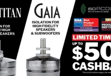 Better Sound and Cash Back with IsoAcoustics