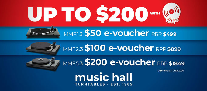 Up to $200 of Free Vinyl, with Music Hall Turntables