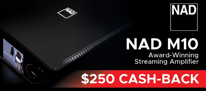 Cashback Offer with NAD M10 BluOS Streaming Amplifier