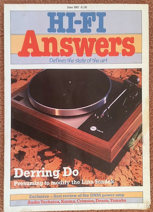 Hi-Fi Answers 1987 CREDIT: Rewind Museum