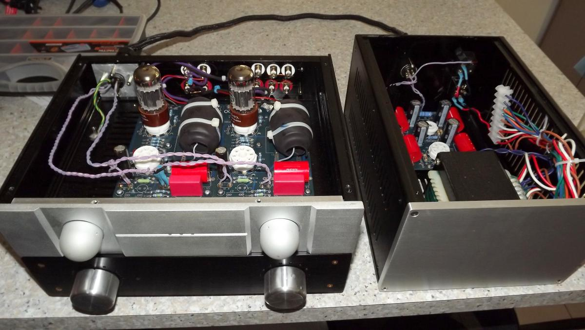 3 box stereo AIKIDO pre amp finally finished - DIY Audio