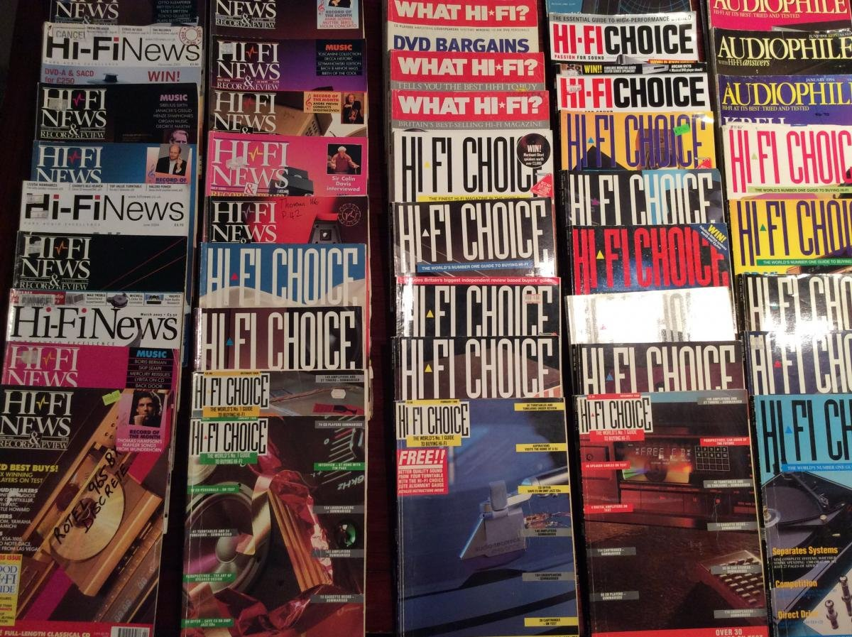 hifi magazines for sale some dating back to 1990 audiophile, hifi