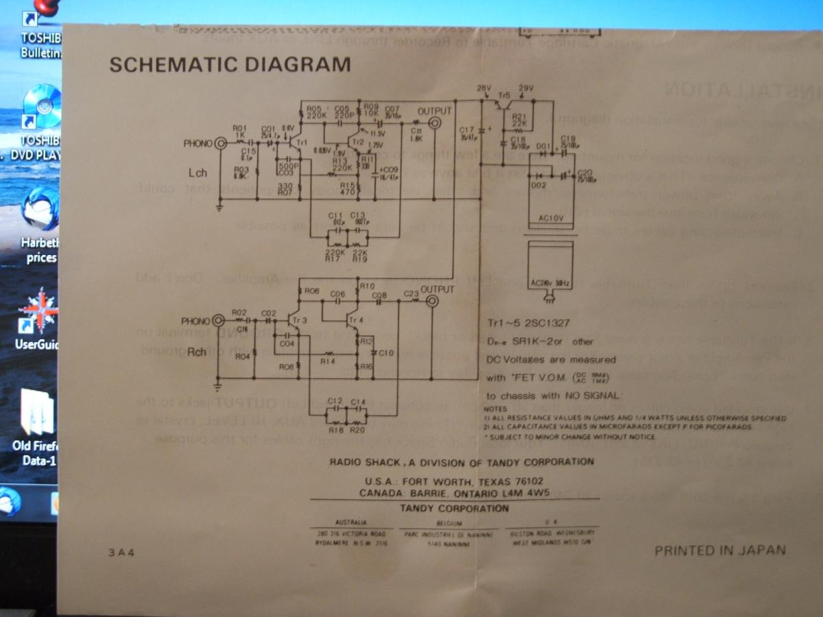 Realistic 42 2101 42 2101 A Phono Preamps Page 2 Steve Hoffman Wiring Color  Coding Parasound Wiring Diagram
