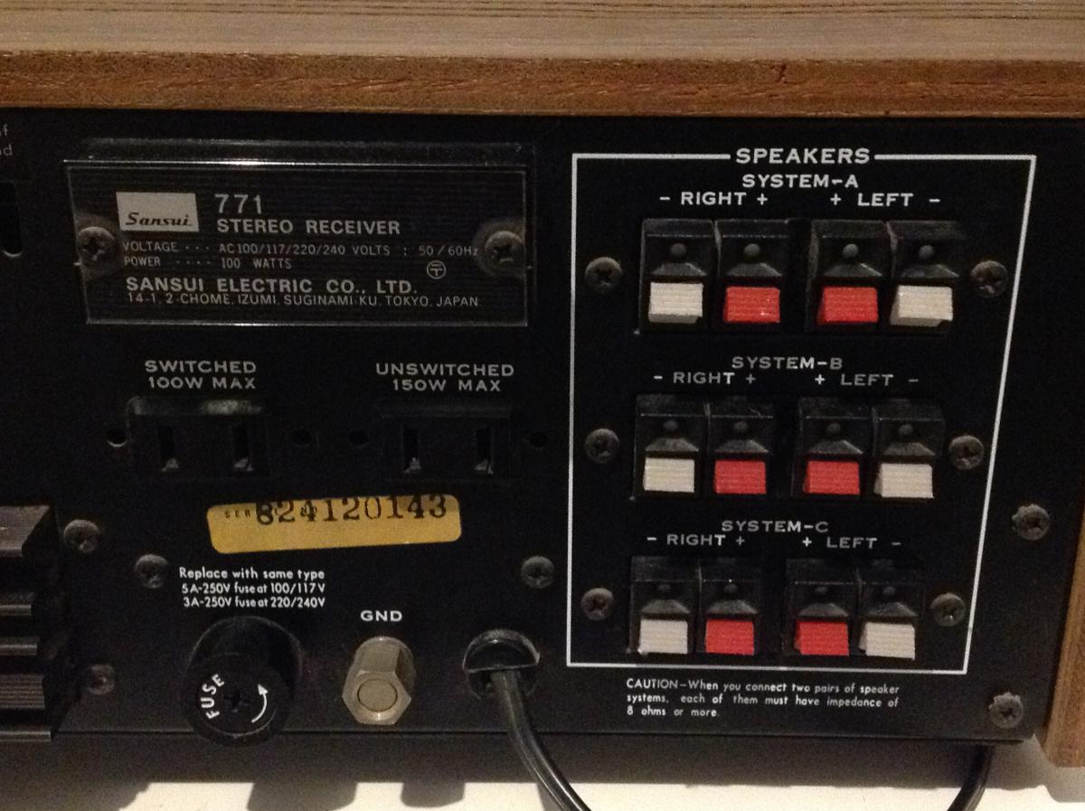 Sansui 771 Stereophonic