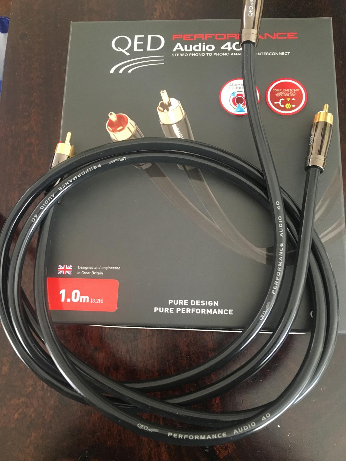 FS: QED Performance Audio 40 Cable RCA 1M
