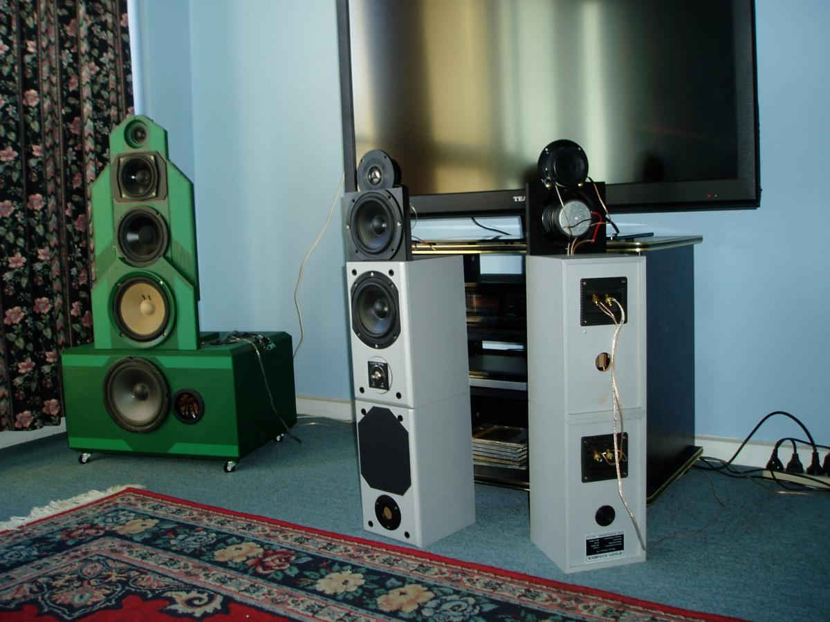 My hybrid open baffle speakers for a small room  - Speakers