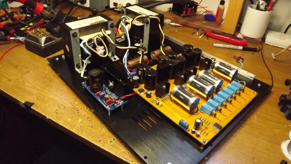 Finished building my new pre amp today - DIY Audio Projects