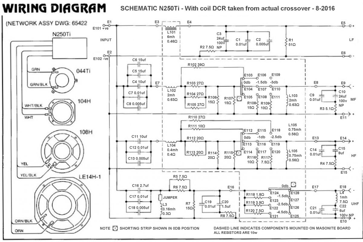 Jbl 250ti - Charge Of The Capacitor Brigade  D - Schematics And Lids Lifted