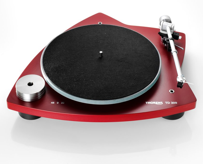 fs thorens td309 turntable red 1995 hifi audio. Black Bedroom Furniture Sets. Home Design Ideas
