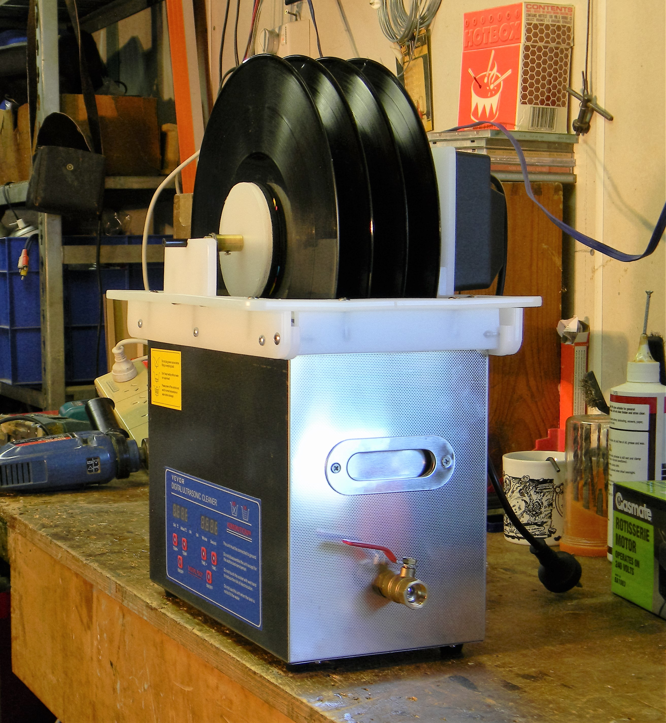 Ultrasonic Record Cleaning with some help from IKEA - Vinyl and