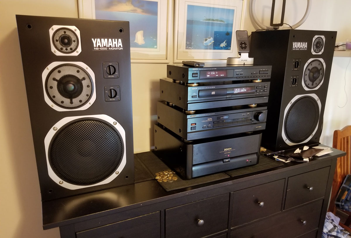 Bedroom stereo system