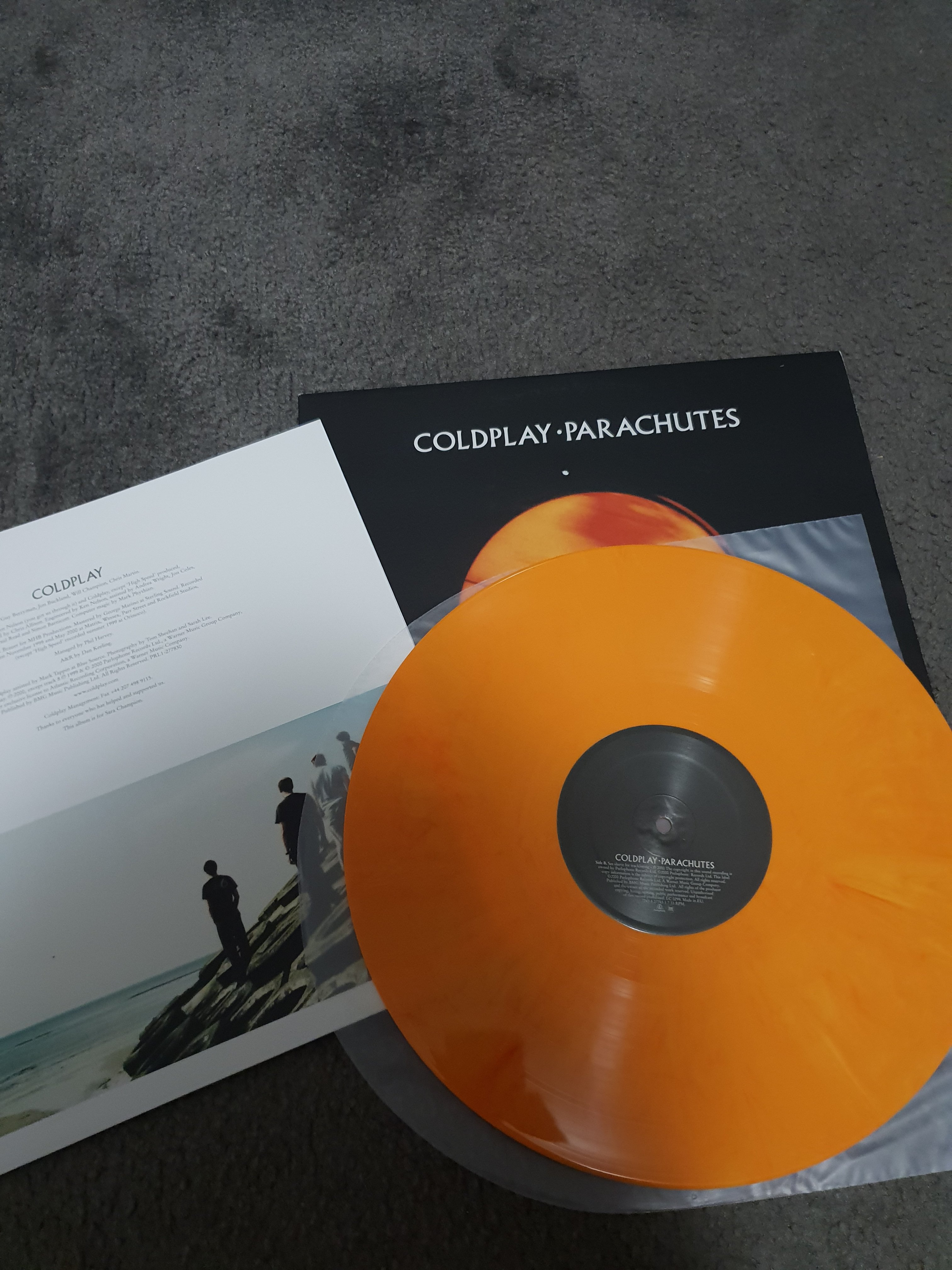FS: Coldplay - Parachutes limited edition ORANGE vinyl - Classifieds