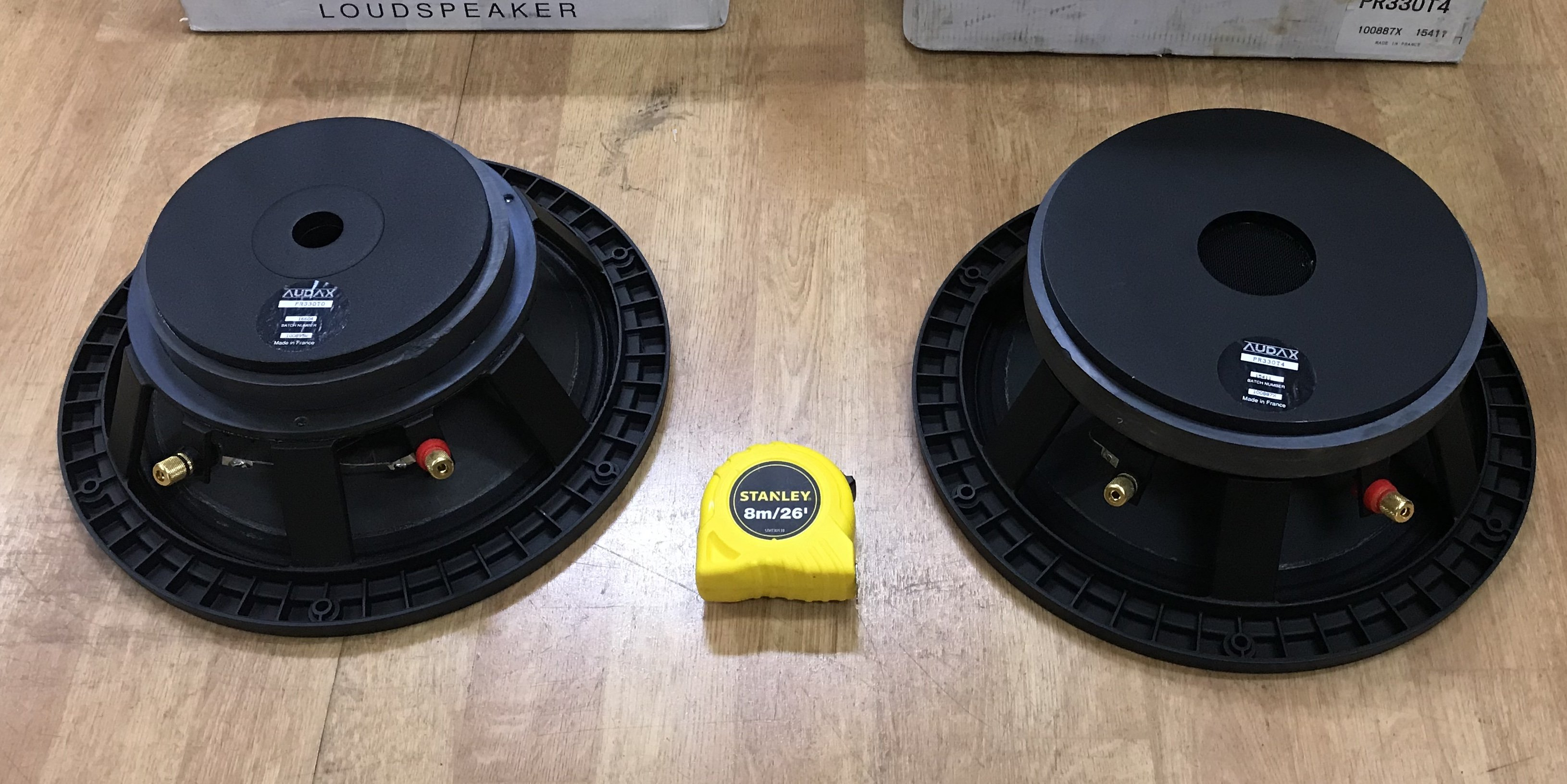"""SOLD: FS: ADL: Two Audax 13"""" Pro Mid/woofers"""