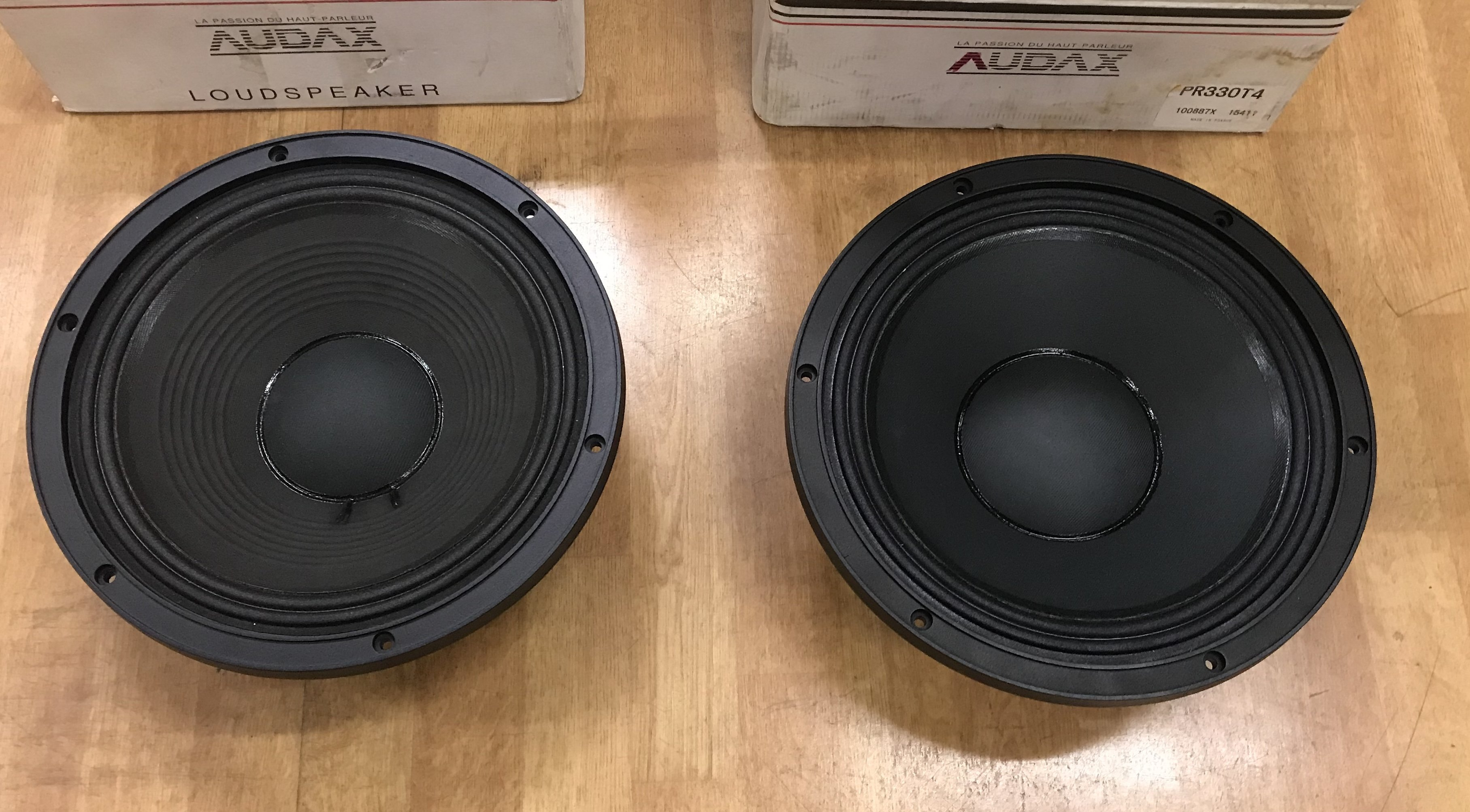 "SOLD: FS: ADL: Two Audax 13"" Pro Mid/woofers"