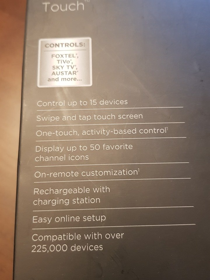 FS: Universal touch screen remote control - Harmony Touch