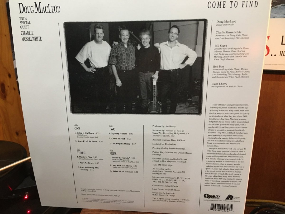 Doug MacLeod  - Come To Find back cover.JPG