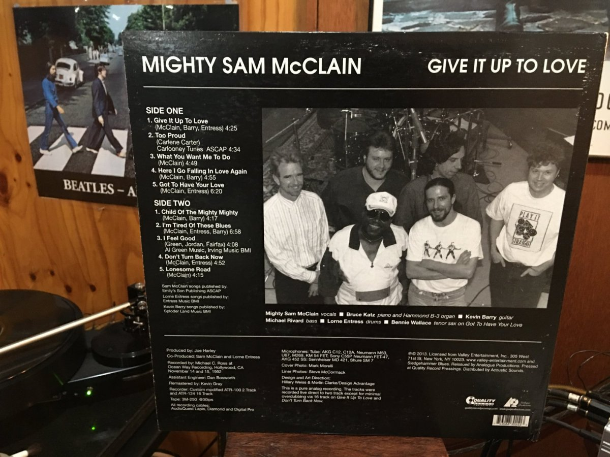 Mighty Sam McClain - Give It Up To Love March 2021. back coverJPG.JPG