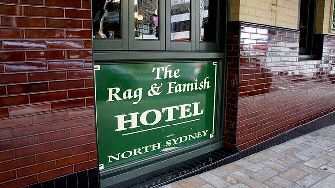 Rag & Famish Hotel, Pyrmonth Sydney