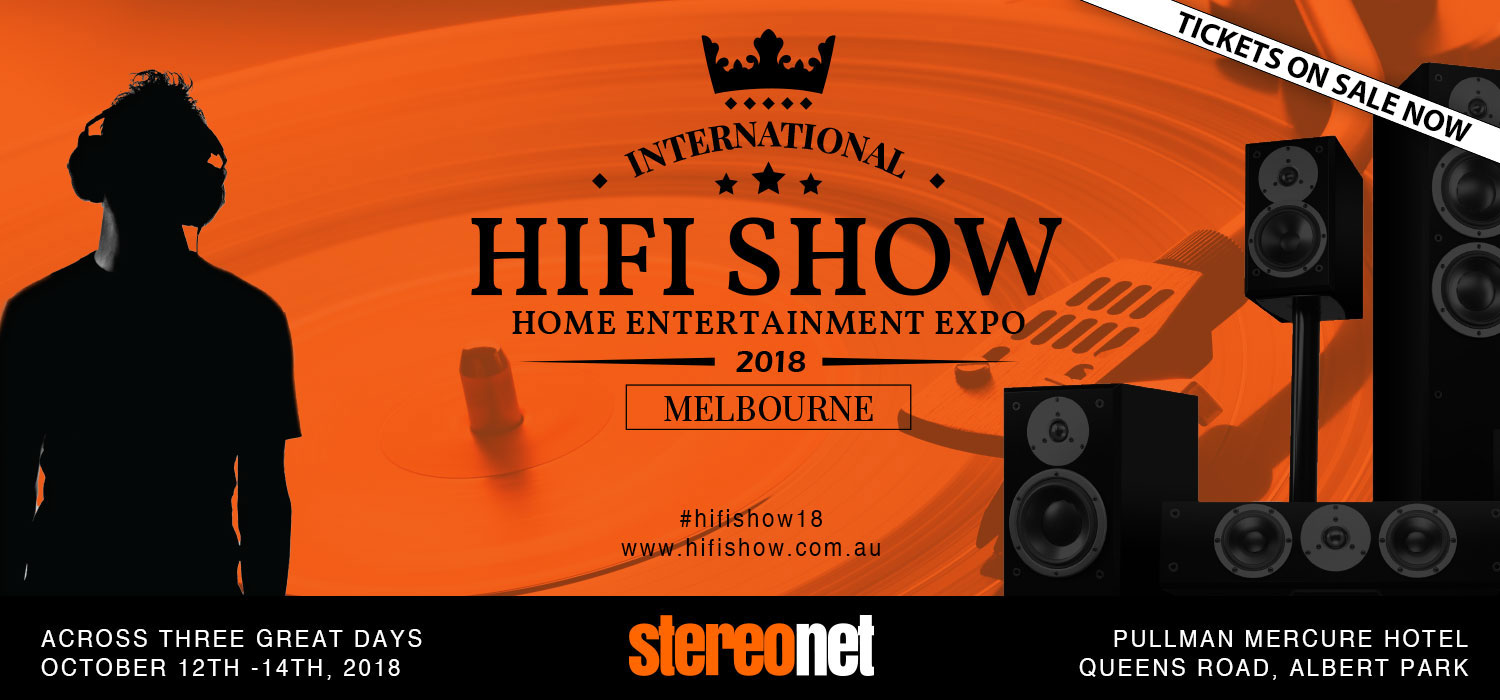 See you at the 2018 Melbourne HiFi Show