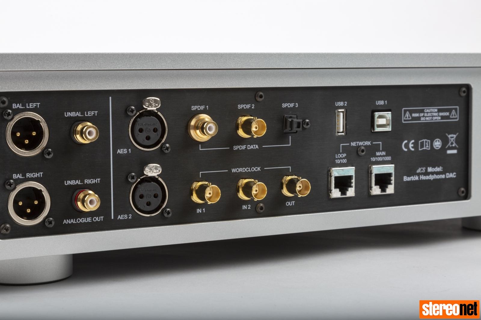dCS Bartok connectivity panel rear