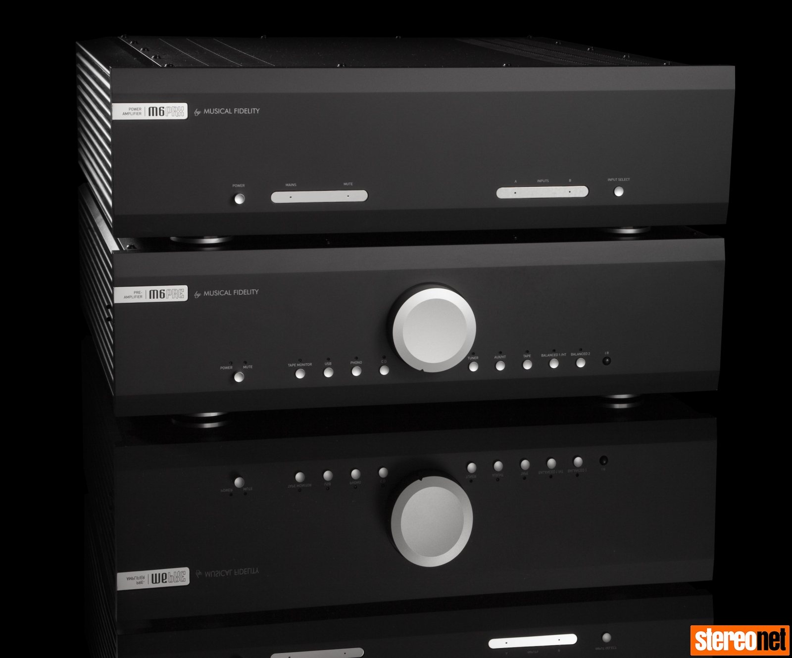Musical Fidelity M6 PRE and M6 PRX amplifiers
