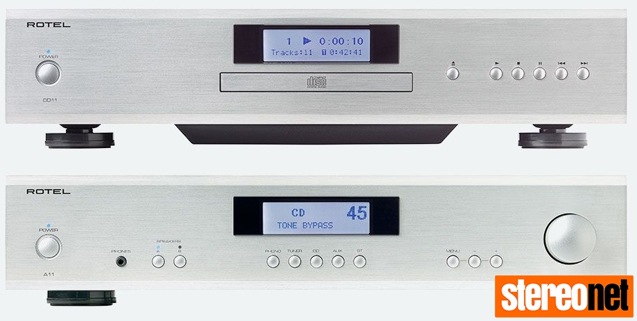 Rotel A11 and CD11 Silver