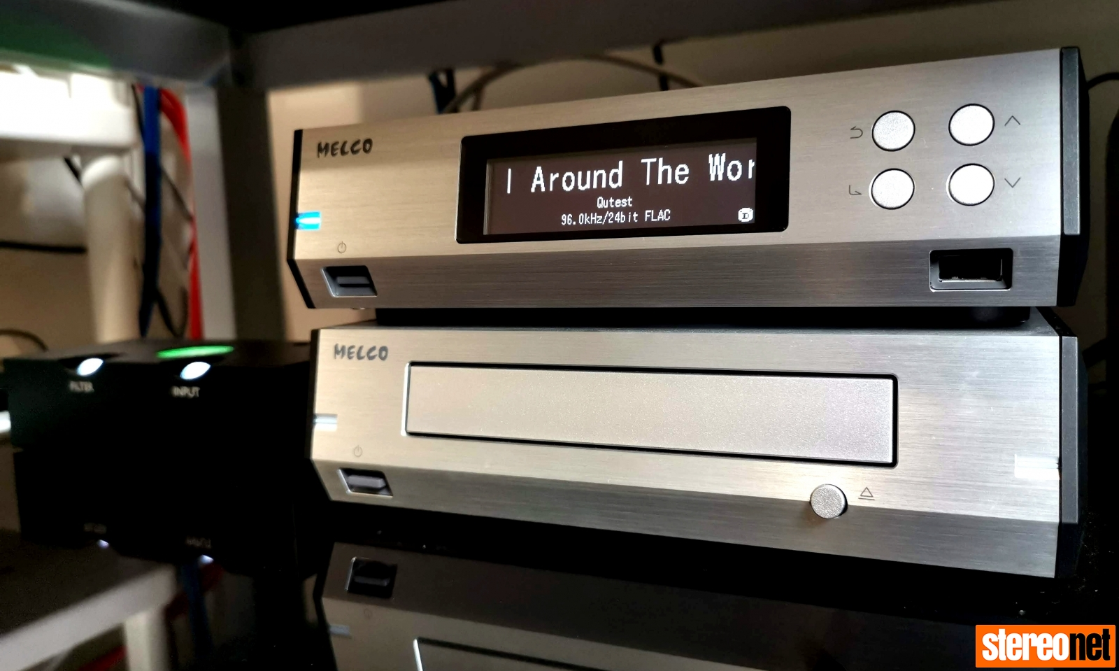 Melco N100 and D100 with Chord Qutest