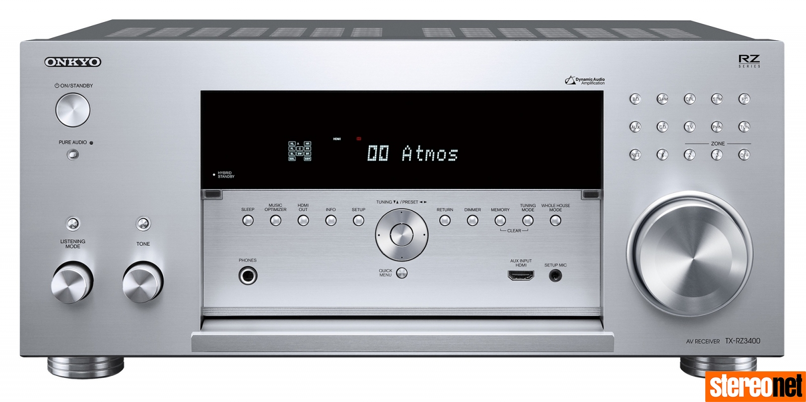 Onkyo Announces the TX-RZ3400 11 2-Channel Flagship A/V